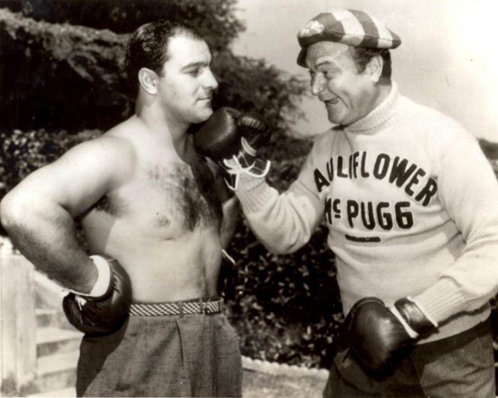Rocky Marciano with famed the famous comedian Red Skelton in 1956