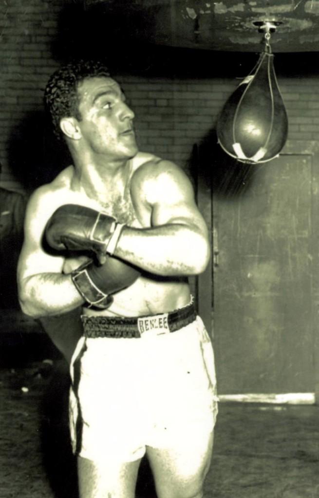 Heavyweight Champion Rocky Marciano in training