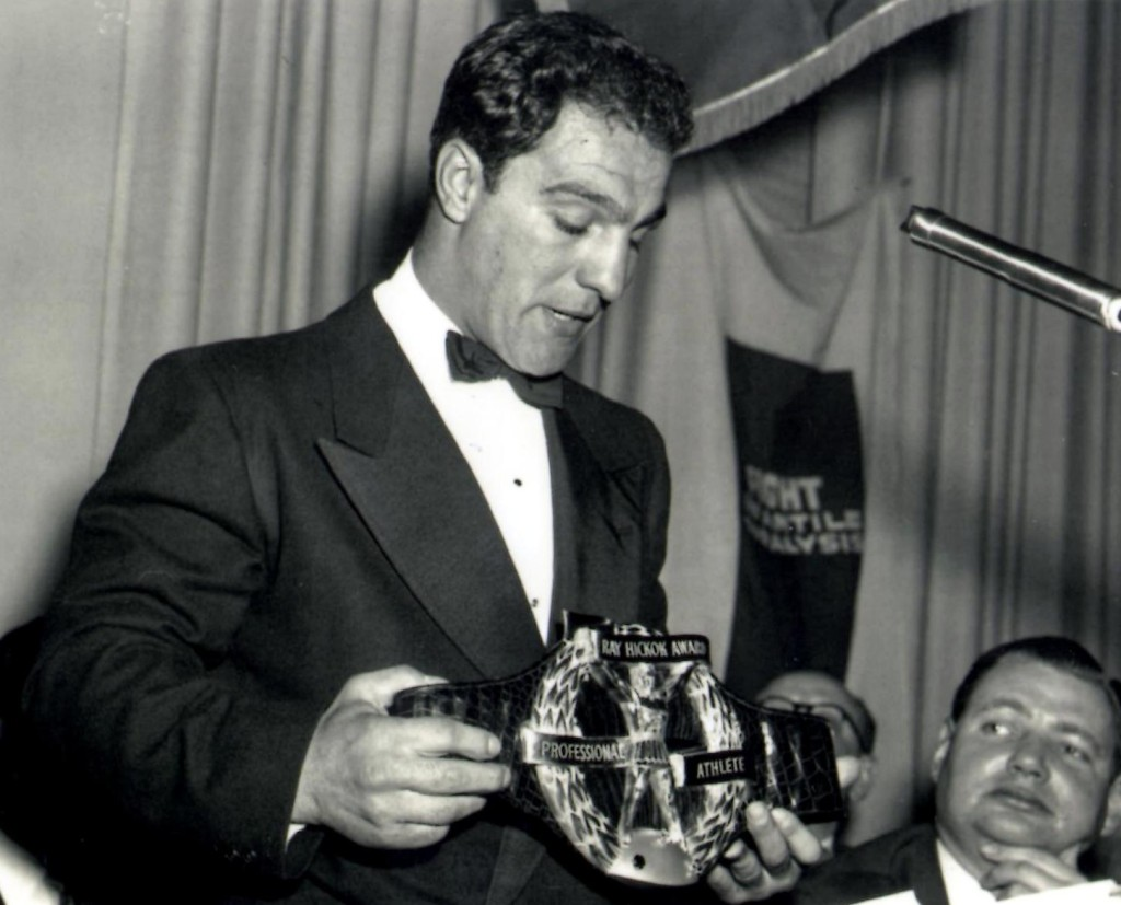 Rocky Marciano awarded with the coveted Hickok Belt for best athlete in 1952