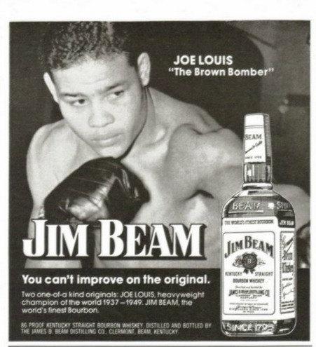 Joe Louis advertising Jim Beam