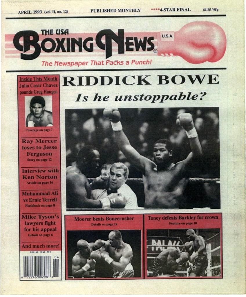 Boxing News April 1993 Cover