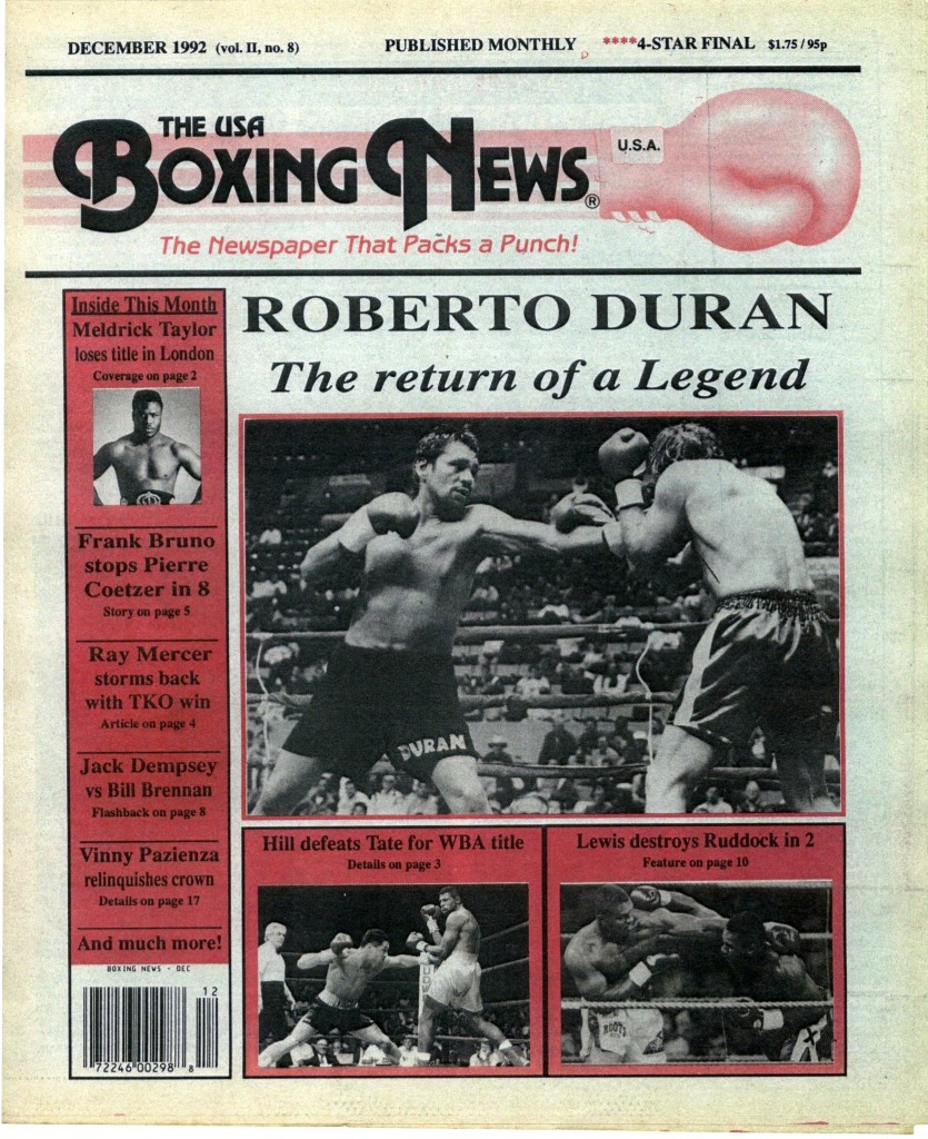 Boxing News December 1992 Cover