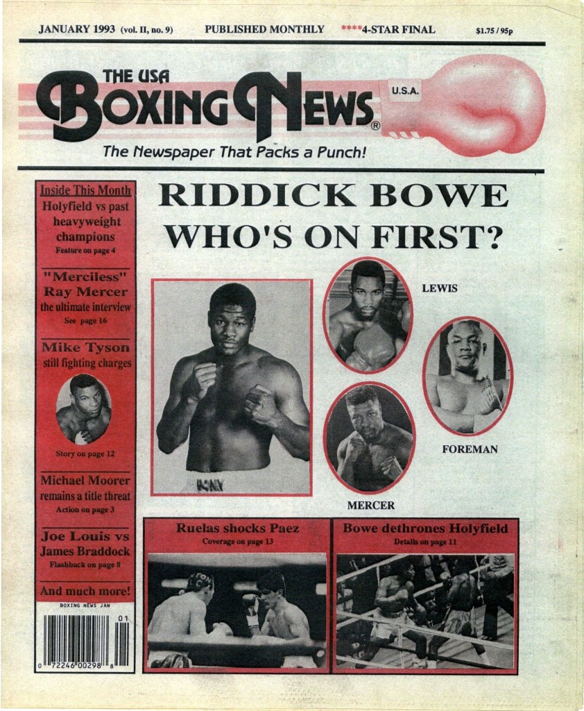 Boxing News January 1993 Cover