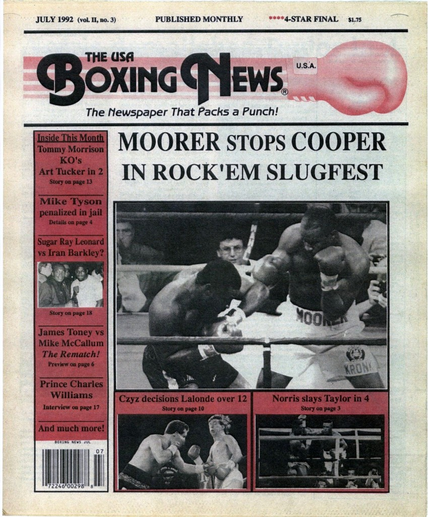 Boxing News July 1992 Cover