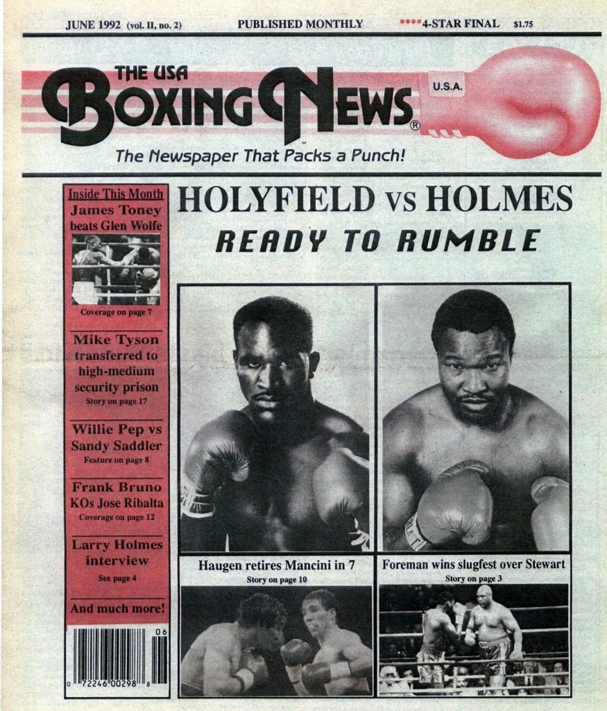 Boxing News June 1992 Cover