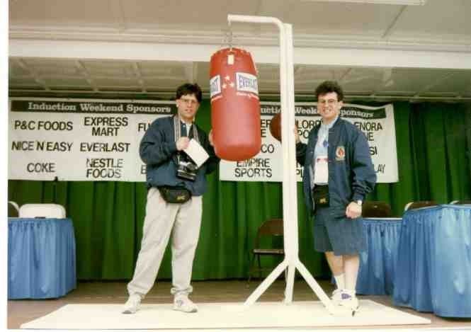 The Boxing Twins at the Boxing Hall of Fame