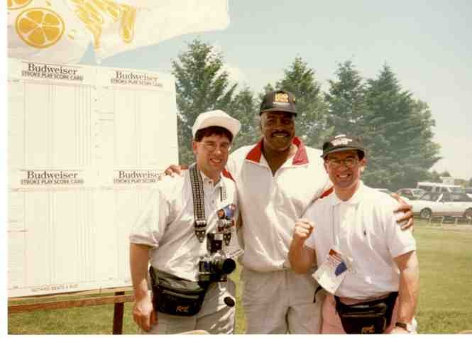 Alex and John with 2-time heavyweight challenger Earnie Shavers.