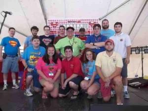 FFFFFFFFFSuperman Celebration 2015 Superman Trivia Game Hosts and Contestants.