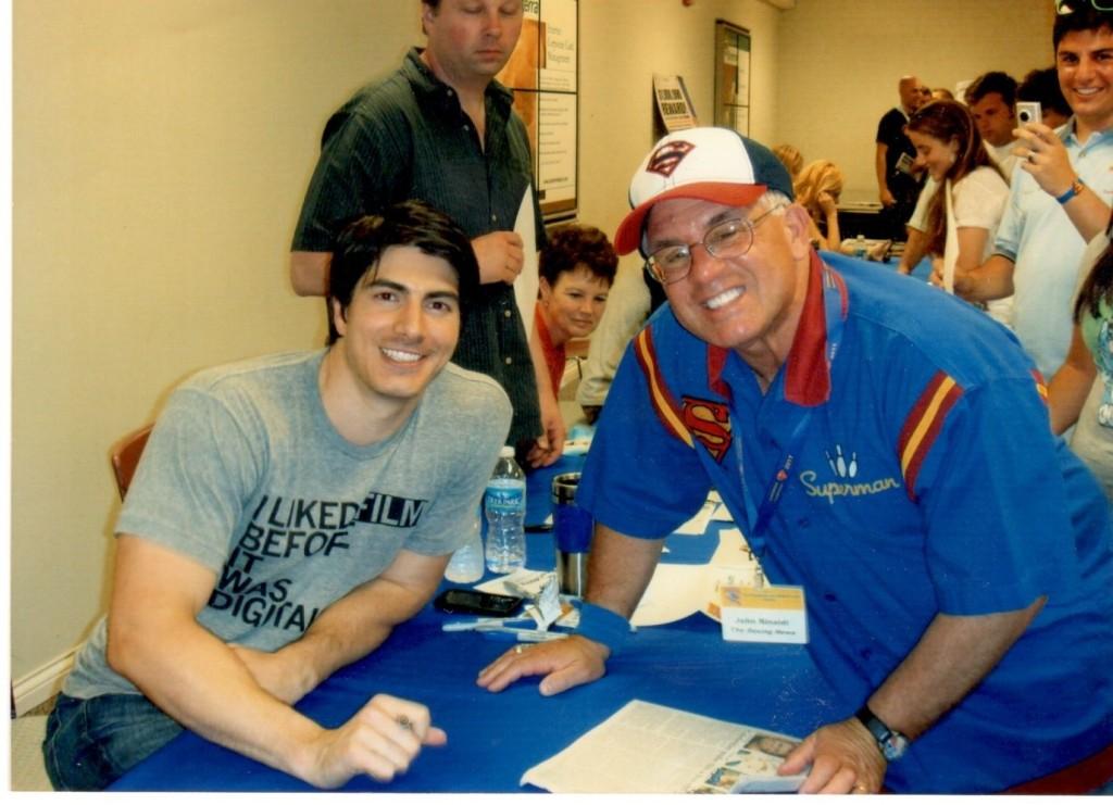 John Rinaldi with Superman Brandon Routh from Superman Returns.