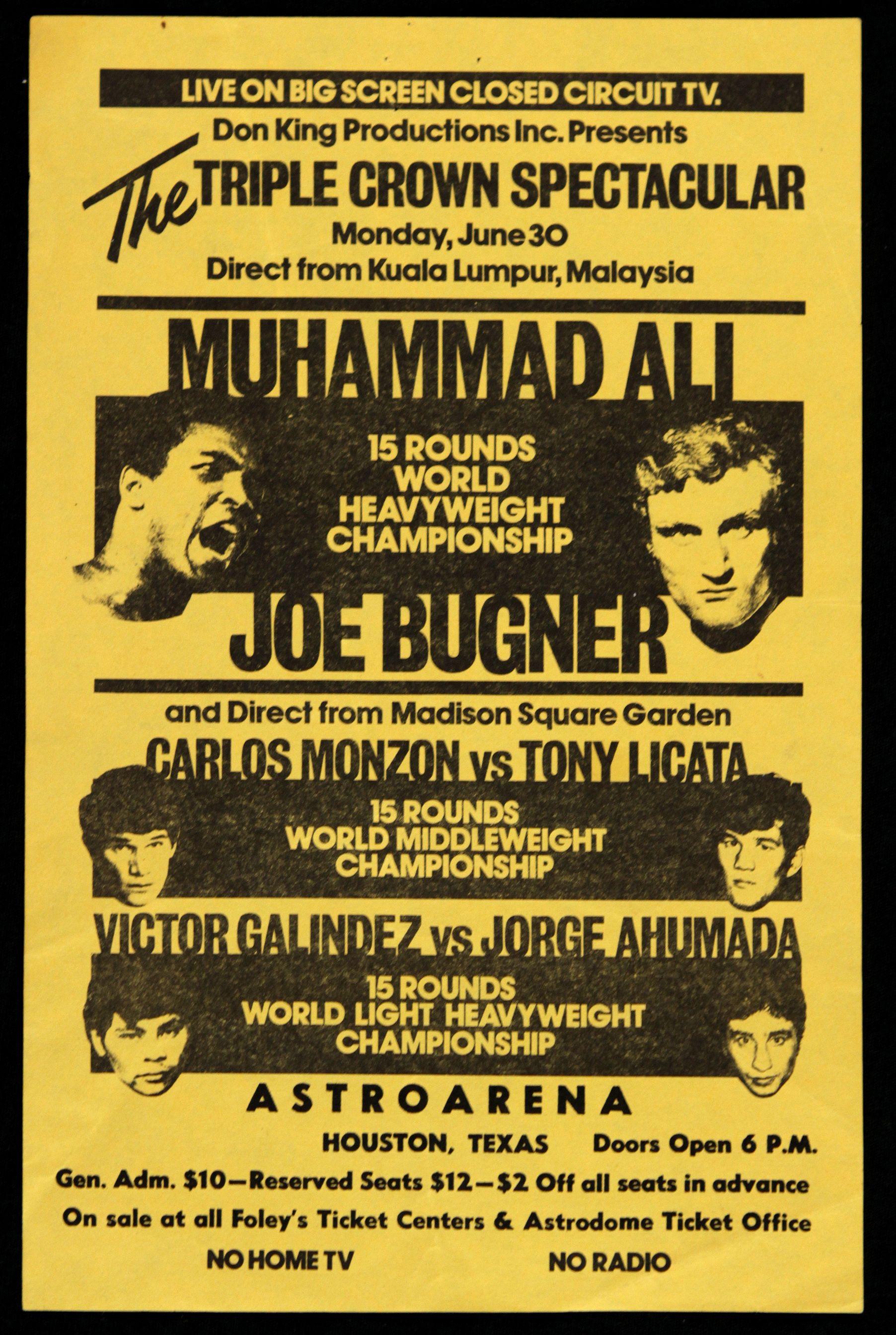 FIGHT PROGRAM ALI-BUGNER.