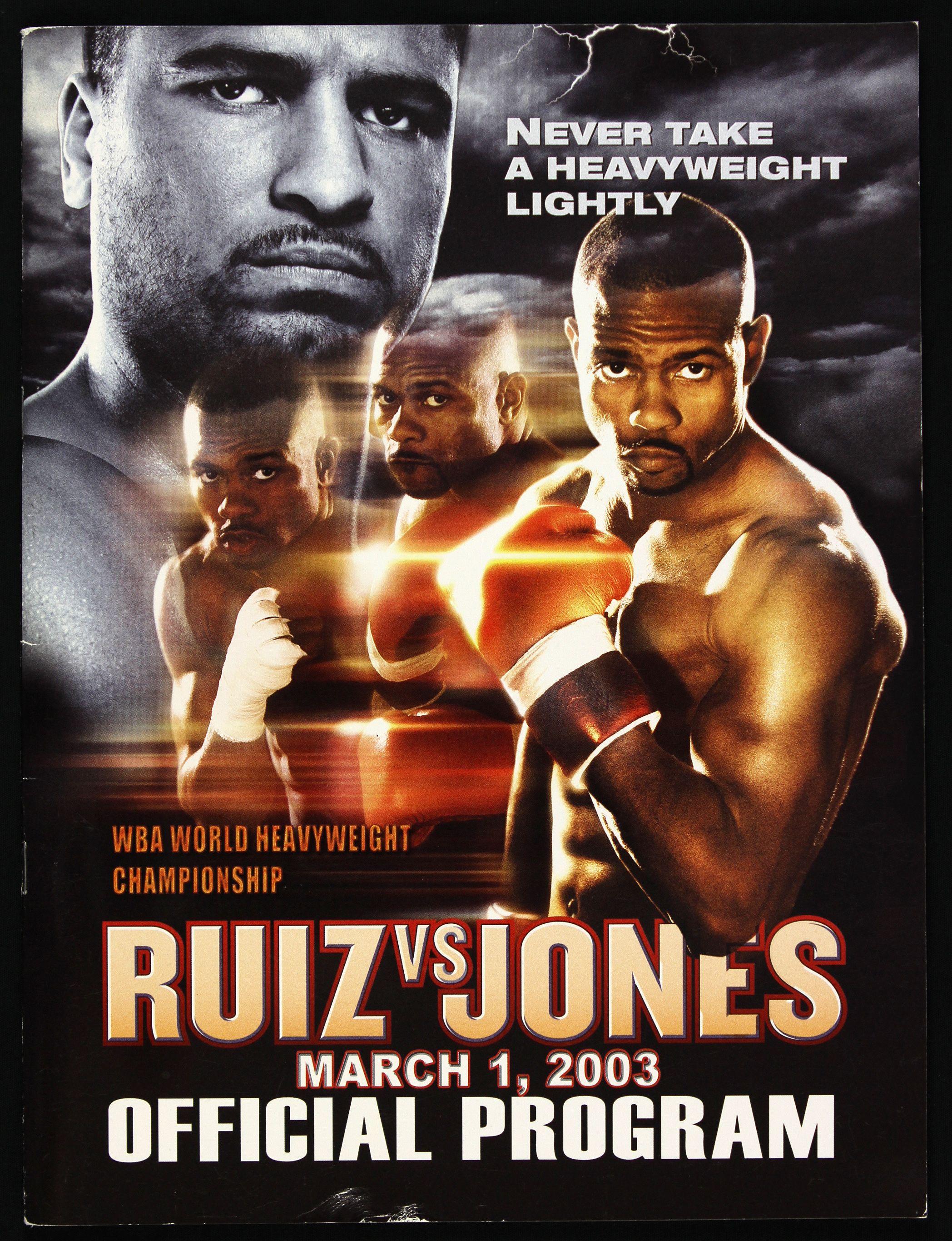 FIGHT PROGRAM JONES-RUIZ.