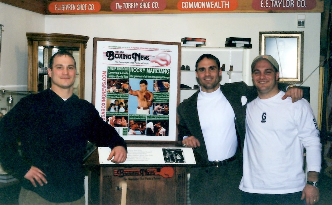 The Marciano Family at the Rocky Marciano Museum in Brockton, Mass. standing bu The USA Boxingnews Exhibit