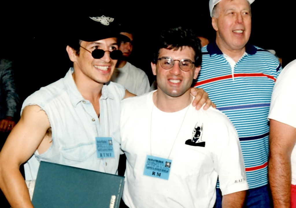 "John Rinaldi (R) with Ray ""Boom Boom"" Mancini (L) * (PHOTO BY ALEX RINALDI)"