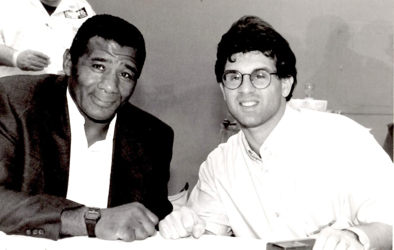 John Rinaldi with Floyd Patterson * (PHOTO BY ALEX RINALDI)