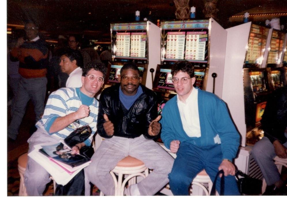 John and Alex Rinaldi with former WBC and WBC welter king Marlon Starling.