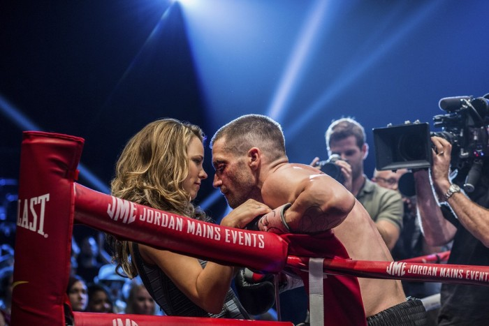 Jake Gillenhaal and Rachel McAdams in Southpaw