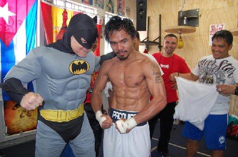 Manny Pacquaio with Batman