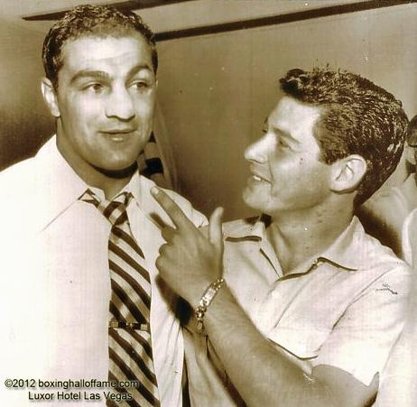 Rocky Marciano with Eddie Fisher