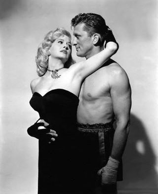 Marilyn Maxwell with Kirk Douglas in The Champion