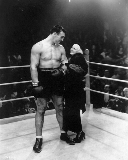 Primo Carnera with blonde bombshell Jean Harlow