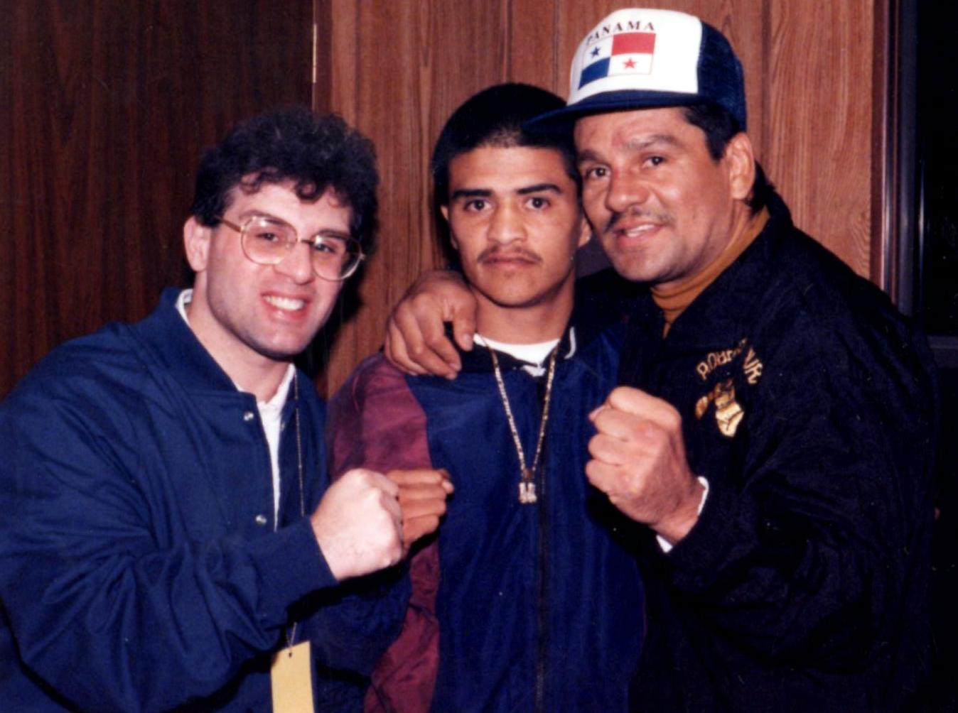 John Rinaldi with Two-Time cChampion Michael Carbajal and Four-Time Champion Roberto Duran *(PHOTO BY ALEX RINALDI)