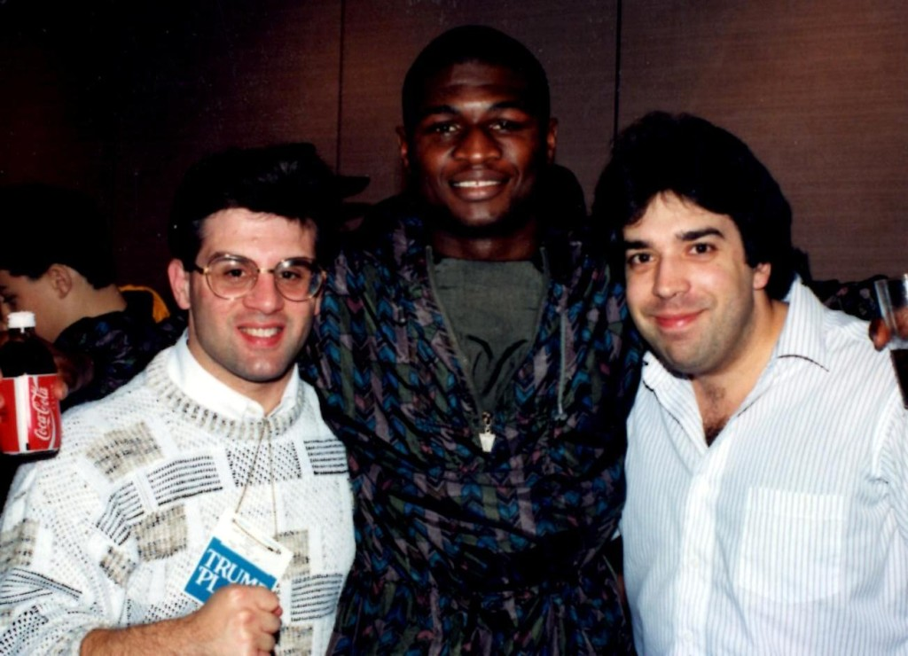 """John Rinaldi (L) with reigning middleweight champion James """"Lights Out"""" Toney (C) and USA Boxing News Senior Writer Sal Alaimo. *(PHOTO BY ALEX RINALDI)"""