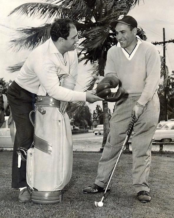 Rocky Marciano and Yankee Legend Yogi Berra