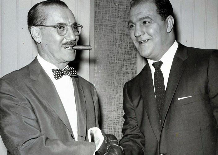 Groucho Marx with Rocky Marciano