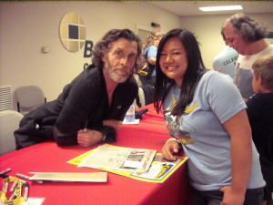 Actor John glover who played Lionel Luthor on Smallville with Janine Rinaldi
