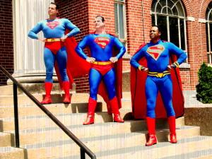 Three generations of Superman