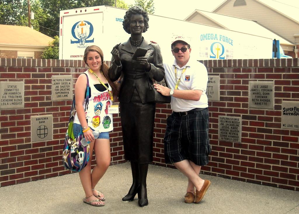 Juliann and Alex Rinaldi at the Noel Neil Statue