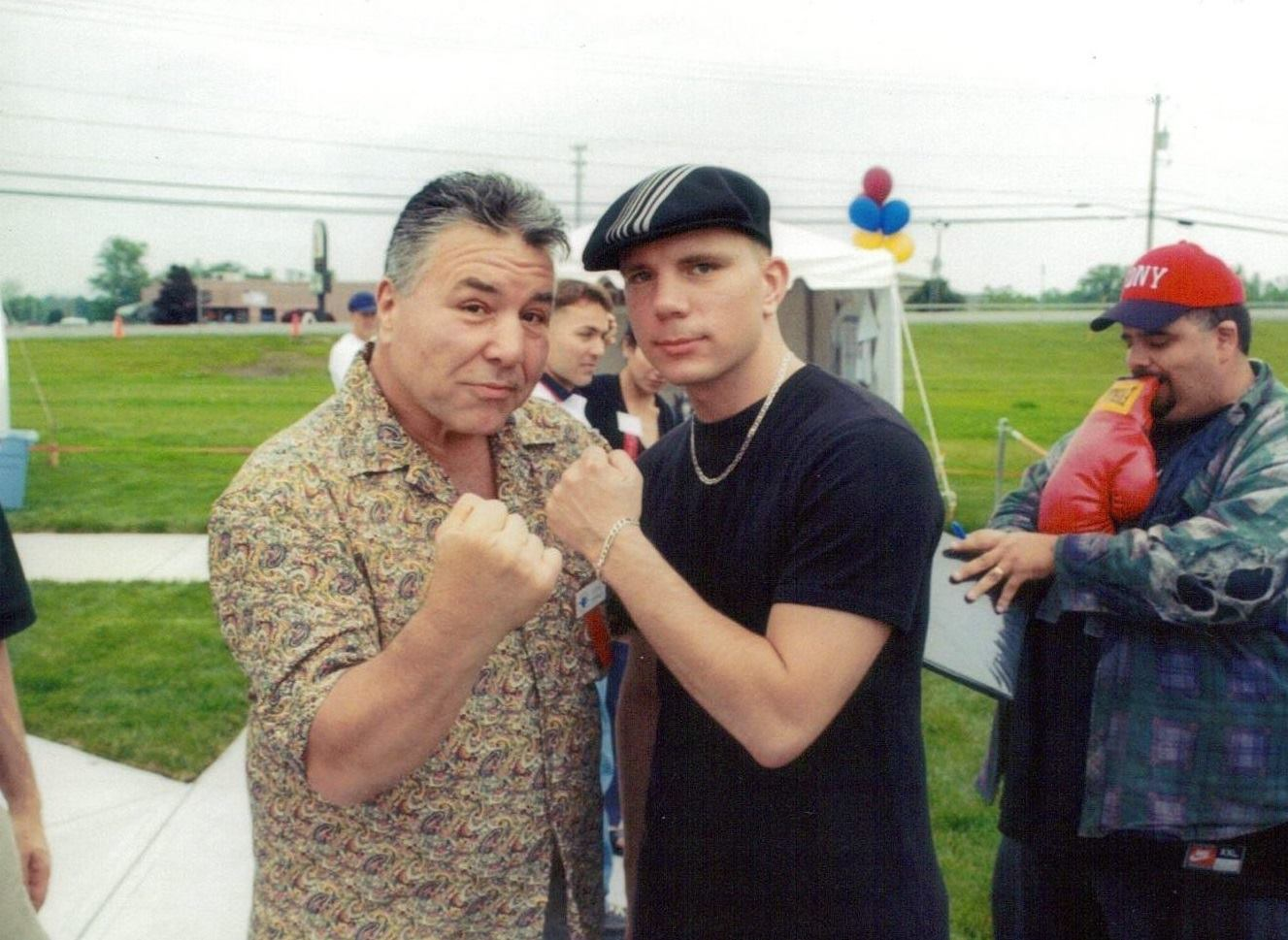 The USA Boxing News Writer/Reporter Kirk Lang with former heavyweight contender George Chuvalo