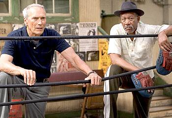 Clint Eastwood and Morgan Freeman in Million Dollar Baby