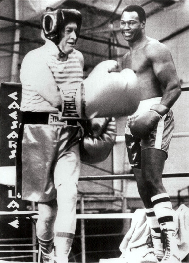Bob Hope and heavyweight king Larry Holmes