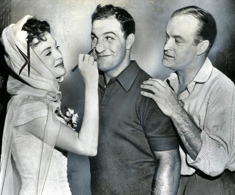 Bob Hope, Rocky Marcianon and Milly Vitali.