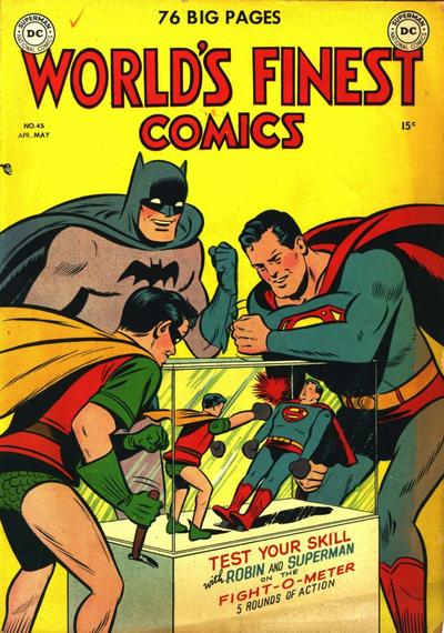NEWBoxing Comic Great Superman vs. Robin