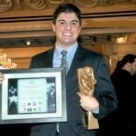 SartonkJoseph Rinaldi winning the Muhammad Ali - Martin Luther King Jr. Award for Boxing Excellence