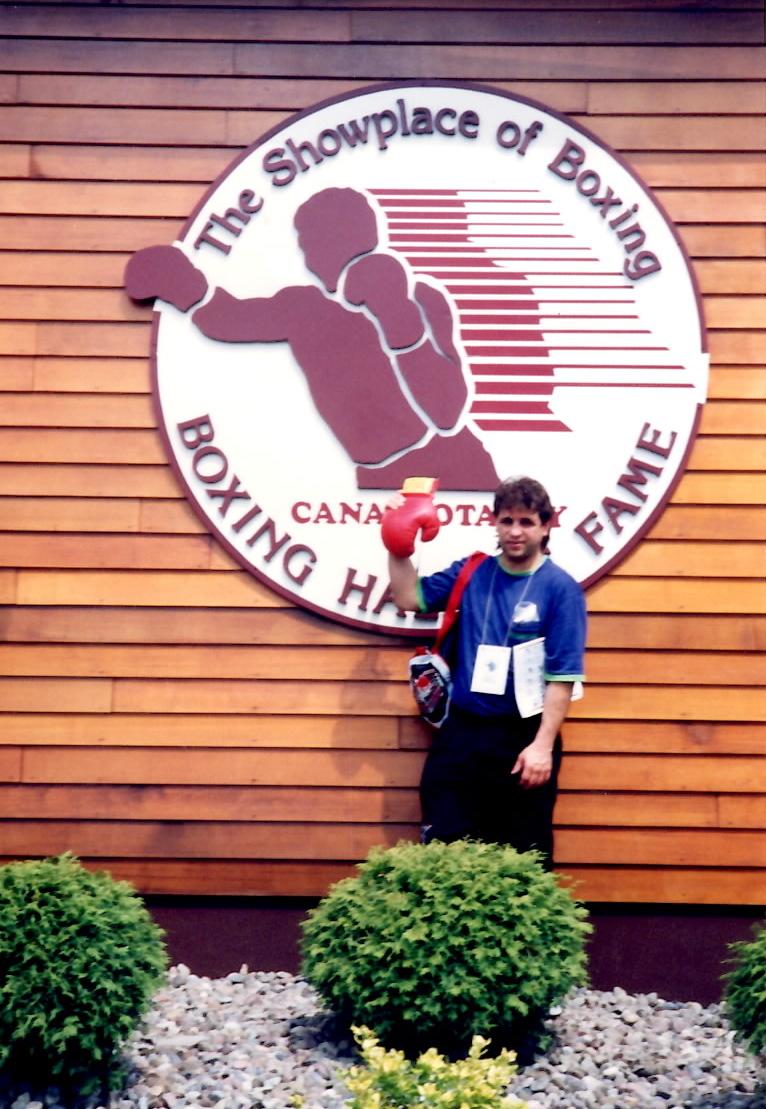 Gerard Rinaldi at the Boxing Hall of fame