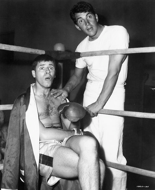 Martin and Lewis Great Boxing Photo from Sailor Beware