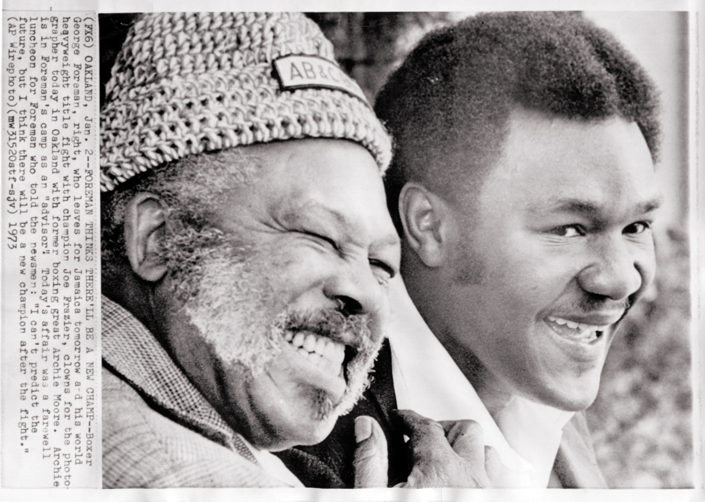 Archie Moore and George Foreman.