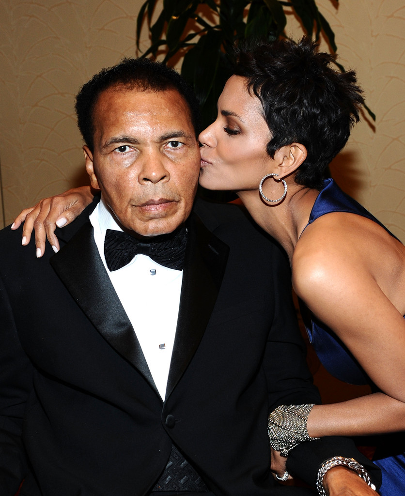 Halle Berry and Muhammad Ali.