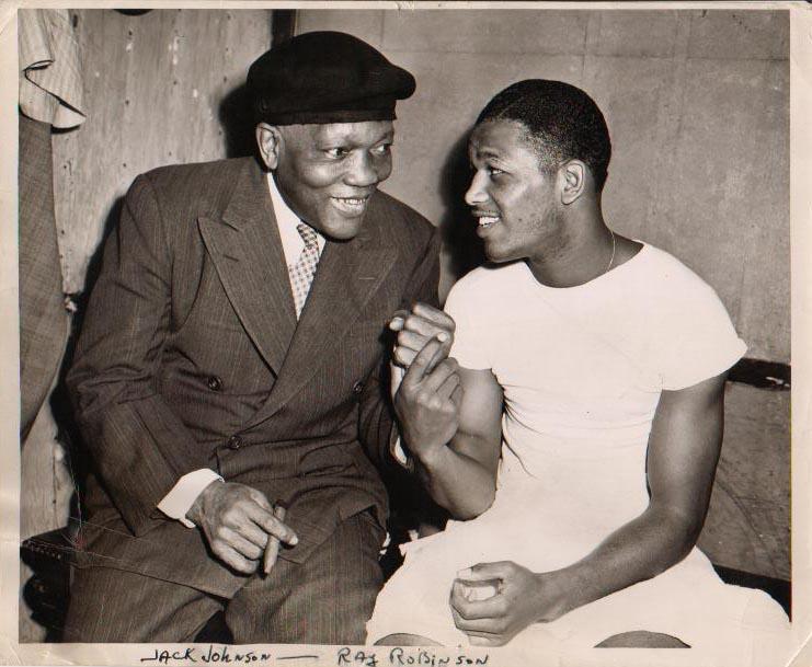 Jack Johnson and Sugar Ray Robinson.