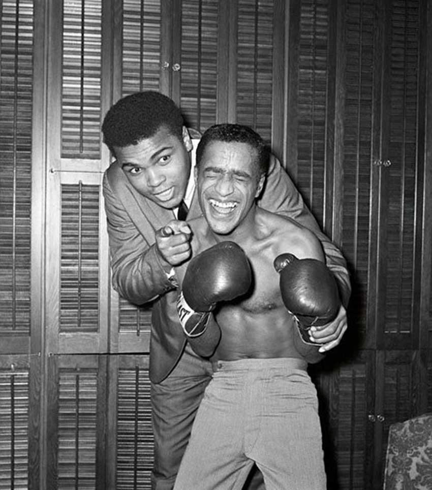 Muhammad Ali with Sammy Davis Jr..