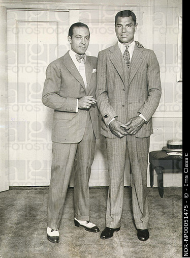 Portrait of Jack Dempsey and Rudolph Valentino