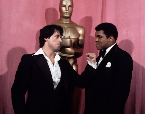 Sylvester Stallone and Muhammad Ali.