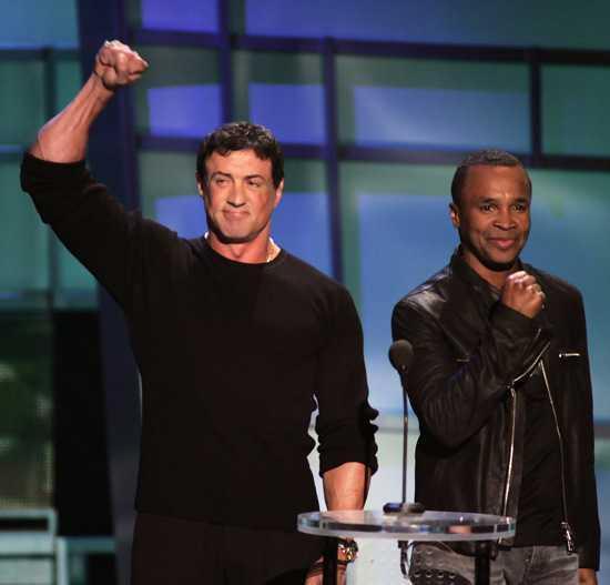 Sylvester Stallone and Sugar Ray Leonard.
