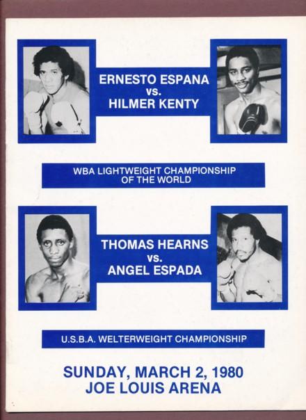 Fight Program - Hearns-Espada and Kenty-Espana.