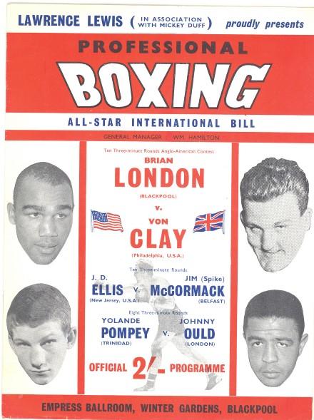 Fight Program - London-Von Clay.