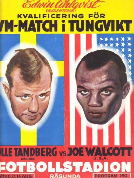 Fight Program - Walcott-Tandberg.