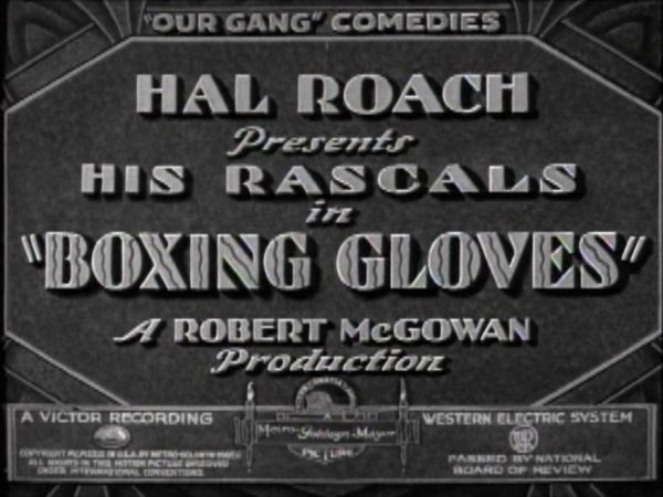 Our Gang Boxing Short Title Card.